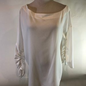 Tibi Savannah Crepe Top M New